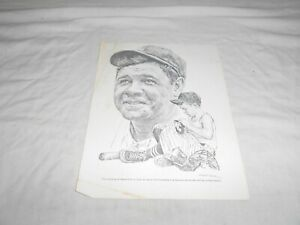 ROBERT RIGER THE EQUITABLE INSURANCE BABE RUTH PRINT