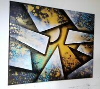 Tableau peinture a l`huile sur toile abstrait