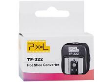 PIXEL TF 322 TTL Blitzschuhadapter extra Sync Anschluss für Nikon DSLR Flashgun