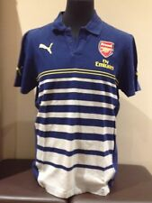 Arsenal Casual Polo Shirt By Puma Blue Fly Emirates Adult Large (A418)