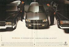 Publicité Advertising 1992  (Double page)  RENAULT CLIO BACCARA