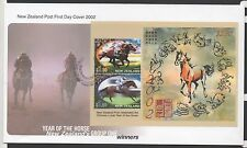 New Zealand 2002 FDC Year of The Horse Group 1 Winners MINISHEET set stamps