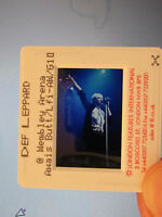Original Press Promo Slide Negative - Def Leppard - Joe Elliott - 1990's - Blue