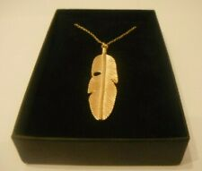 Golden Feather Necklace Gift Boxed