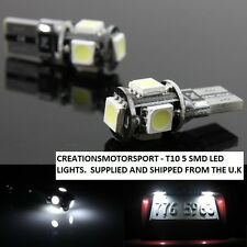 Wedge 501 T10 WSW 12V 2 x 5 SMD XENON WHITE LED SIDE LIGHTS