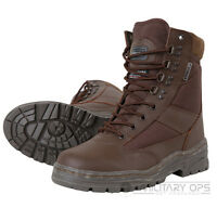 MILITARY ARMY HALF LEATHER COMBAT PATROL BOOT TACTICAL BROWN CADET MTP SAS NEW