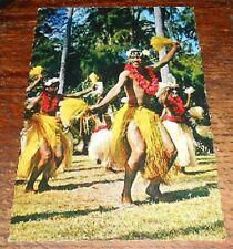 Vintage Postcard Tahiti  Dance Group Male Dancer