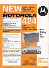 Motorola 424 radio de coche folleto 1966 Jm