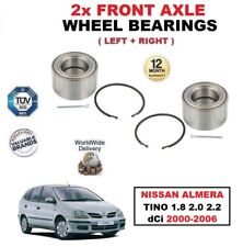 FOR NISSAN ALMERA TINO 1.8 2.0 2.2 dCi 2000-2006 FRONT LEFT RIGHT WHEEL BEARINGS