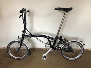 Brompton S6L  - Immaculate 6-Speed Folding Bike in Black - 2016