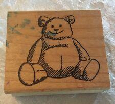 Chubby Teddy Bear Wooden Rubber Stamp Cute Craft Art Scrapbooking Cardmaking