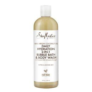 Shea Moisture, Coconut Acacia Senegal Quench Refresh Bubble Bath Body Wash 16.oz