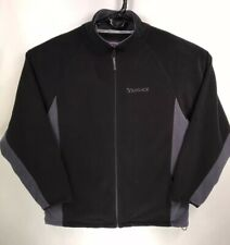 Yahoo Men's XXL 2XL 2007 Holiday Black Full Zip Fleece Jacket EUC