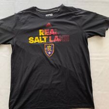 Real Salt Lake Adidas Mens Ultimate T-Shirt Black Crew Neck Graphic Tee XL
