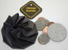 squeeze coin pouch / purse / wallet spiral  genuine leather mens / womens