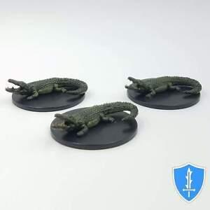 Crocodile x3 - Waterdeep Dragon Heist #30 D&D Miniature