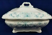 Antique Ridgways Beaufort Pattern Blue And White Soup Tureen England