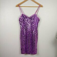 New listing Vintage Lillie Rubin Silk Sequin Mini Dress Purple
