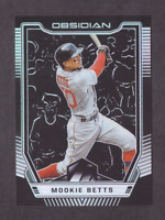 2019 Panini Obsidian Baseball MOOKIE BETTS Silver Prizm Card Mint Red Sox