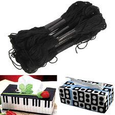 12Pcs Black Anchor Cross Stitch Cotton Crochet Embroidery Thread Floss Skein New