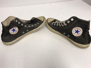 Vintage CONVERSE Chuck Taylor All Star High Top BLACK Men's Size 10 Made in USA