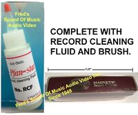 Anti-Static Fluid & Record Cleaner Brush Audio Cleaning Kit Quest For Best Le-Bo
