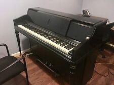Upright Wurlitzer Ebony Black Player Piano with Rolls.very clean.