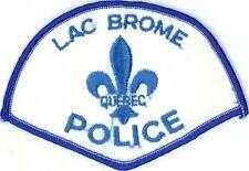 Lac Brome Police, Quebec, Canada HTF Vintage Uniform/Shoulder Patch