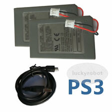 2XPK Replacement 1800mAH Battery with USB Charger Cable for Sony PS3 Controller
