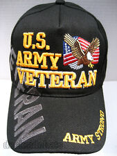 U.S. ARMY VETERAN Cap/Hat w/Flag & Eagle Army Strong Free Ship 10% off 2nd Hat
