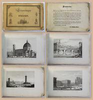 Erinnerungen an Italien Album 10 Kupferstiche Schmerber um 1840 Italia Ansichten
