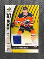 2017-18 SP GAME USED KAILER YAMAMOTO AUTHENTIC ROOKIE JERSEY #ed 90/399