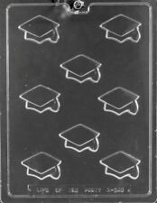 GRADUATION CAP BITES CHOCOLATE CANDY MOLD DIY PARTY FAVOR CUPCAKE TOPPERS