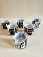 Military Newspaper Lowball Tumbler Set of 6 Army Navy Air Force Federal Times