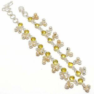 "Amethyst Gemstone Handmade Ethnic Silver Fashion Jewelry Anklet 12"" SA1"