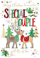 Special Couple Embellished Christmas Greeting Card Talking Pictures Cards
