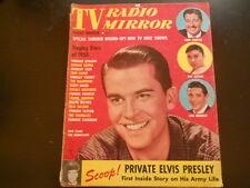 Dick Clark, Elvis Presley, Everly Brothers -TV Radio Mirror Magazine 1958