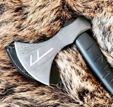 "Tactical Custom Ethnic Premium Made Viking Axe Hand Forged Damascus ""Runa"""