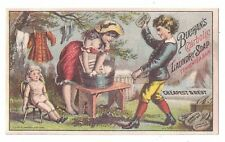 Buchan's Carbolic Disinfecting Laundry Soap Trade Card Girl, Boy & Doll