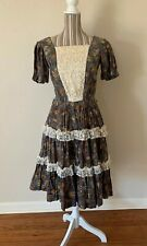 Vintage 1960 H Bar C California Ranchwear Western Dress Women's Small