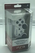 SONY Playstation 3 PS3 Satin Silver WHITE JEWEL HOME BUTTON DUALSHOCK 3 DS3 MISP