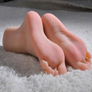 2Pcs Lifelike Silicone Female Legs Feet Mannequin Shoes Socks Display Model