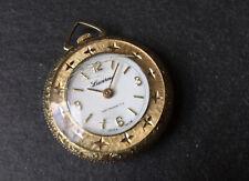 Vintage Ladies Gold Tone Lucerne Pendant Fob Watch Deco Style - Spares Or Repair