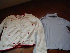 Lot of 2 Pc Girls Clothes Gymboree Sweater Cardigan Sz 8, Top Turtleneck Sz 9