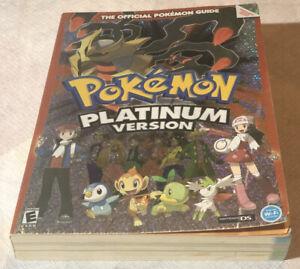 Pokemon Platinum Version Official Pokemon Guide Nintendo DS 2009 No Mini Poster
