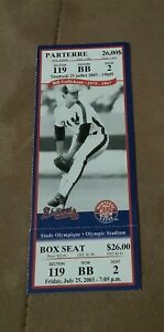 2003 Montreal Expos Full Ticket Vladimir Guerrero Chipper Jones HR July 25 2003