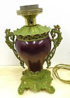 Electrified Victorian Oil Banquet Lamp Base