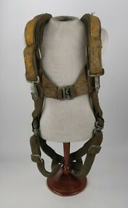 WWII WW2 US Army Air Forces USAAF Type A-3 Parachute Harness Yellow Group 2