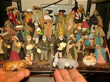 10 pastori vestiti terracotta con nativita' 8 cm crib shepherd alta qualita a11