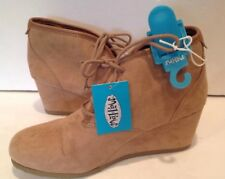 4f7446d03 Women Mad Love Myrtle Taupe Faux Suede Wedge Ankle Boots Booties Size 9  Shoes